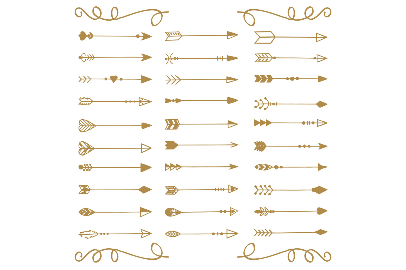 1400x932 Hand Drawn Arrows Vector + Png By Annakristal