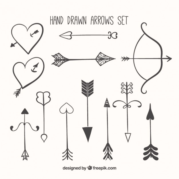 626x626 Hand Drawn Arrow Collection Vector Free Download