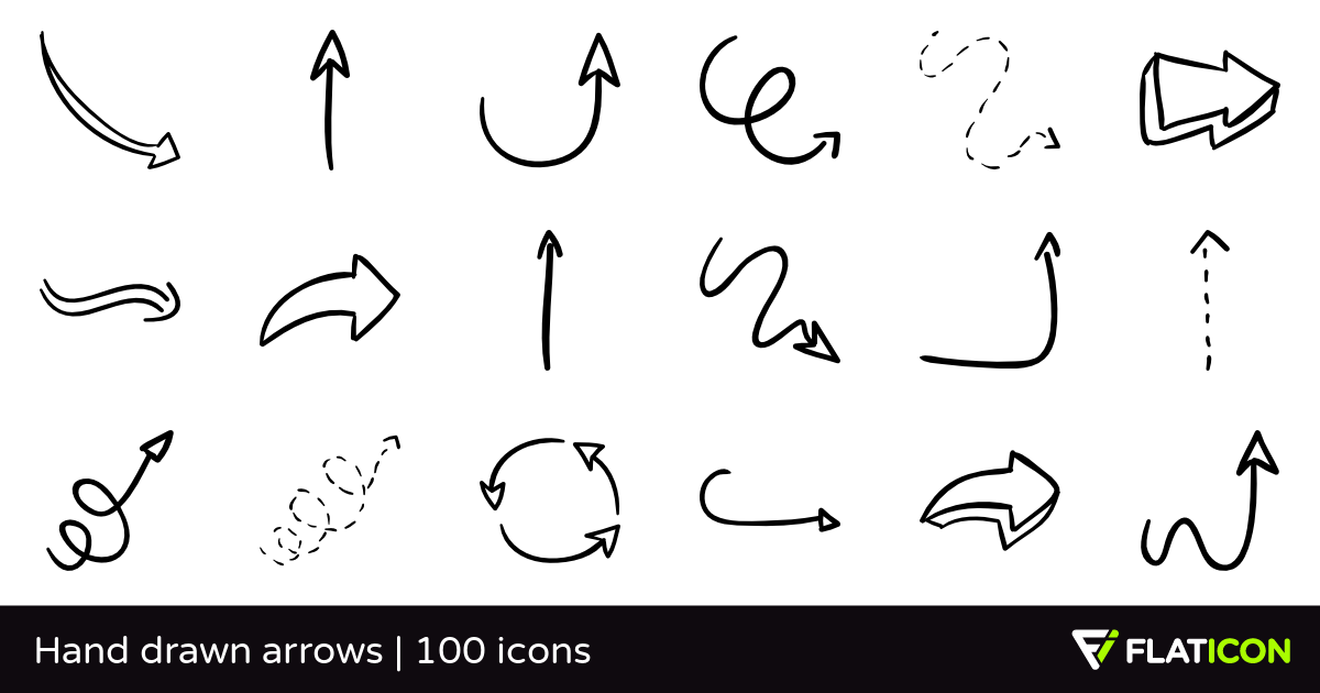 1200x630 Hand Drawn Arrows 100 Free Icons (Svg, Eps, Psd, Png Files)