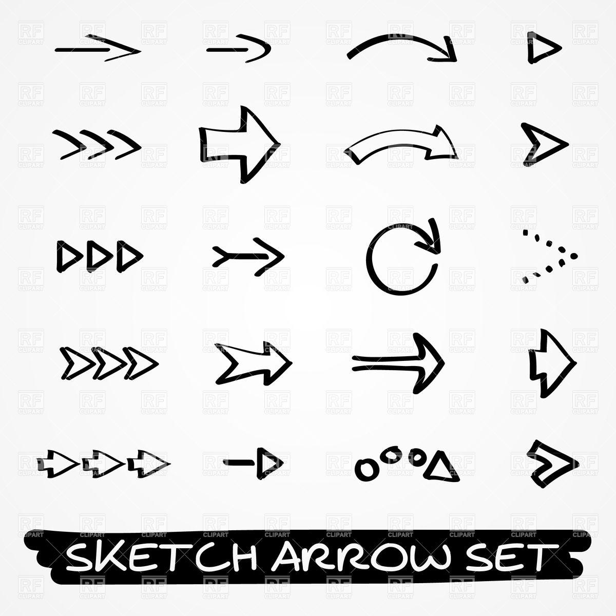 1200x1200 Hand Drawn Arrows Vector Image Vector Artwork Of Signs, Symbols