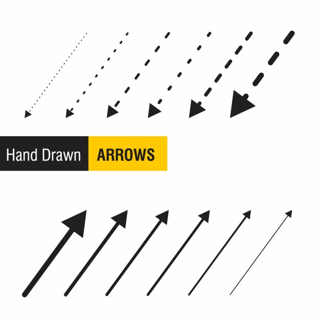 626x626 Hand Drawn Arrows Collection Vector Free Download