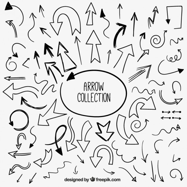 626x626 Pack Of Hand Drawn Arrows Vector Free Download