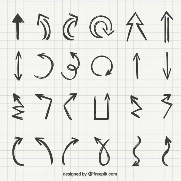 626x626 Set Of Hand Drawn Arrows Vector Free Download