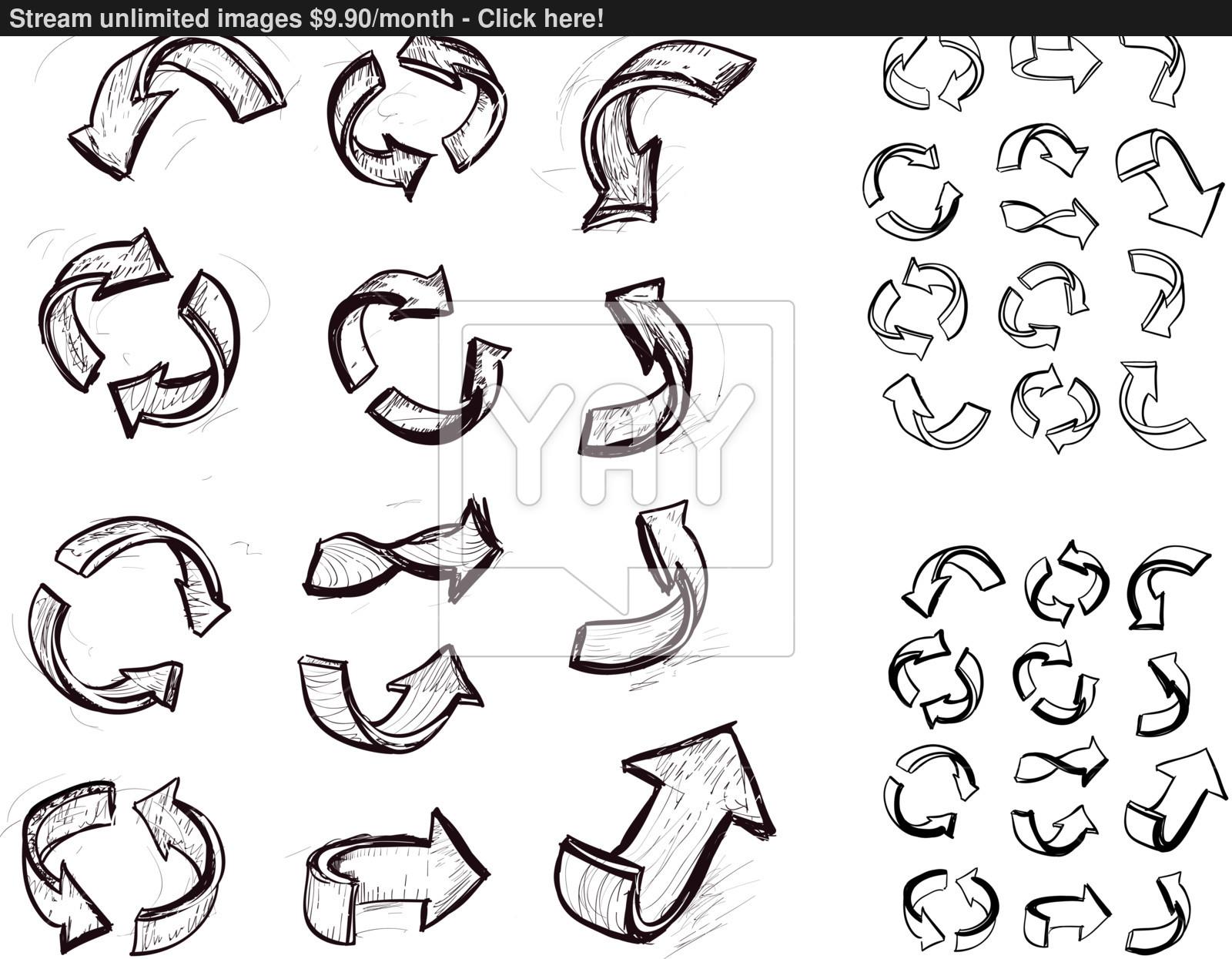 1600x1245 Hand Drawn Arrows Set Vector