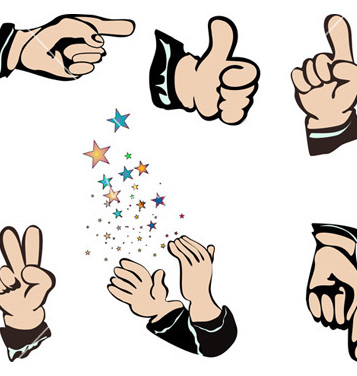 357x376 Free Hands Pointing Vector Free Vector Download 267897 Cannypic
