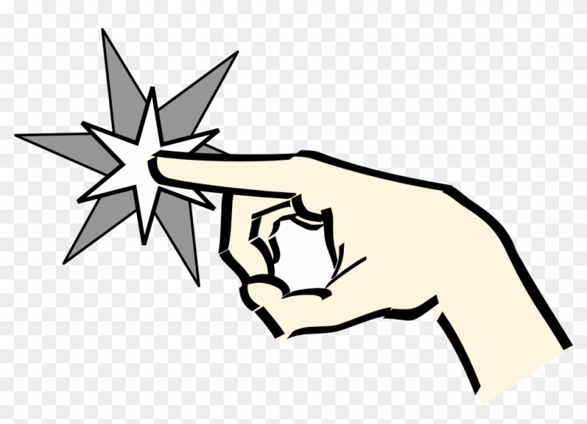 840x607 Hand Pointing At Star Clipart, Vector Clip Art Online,