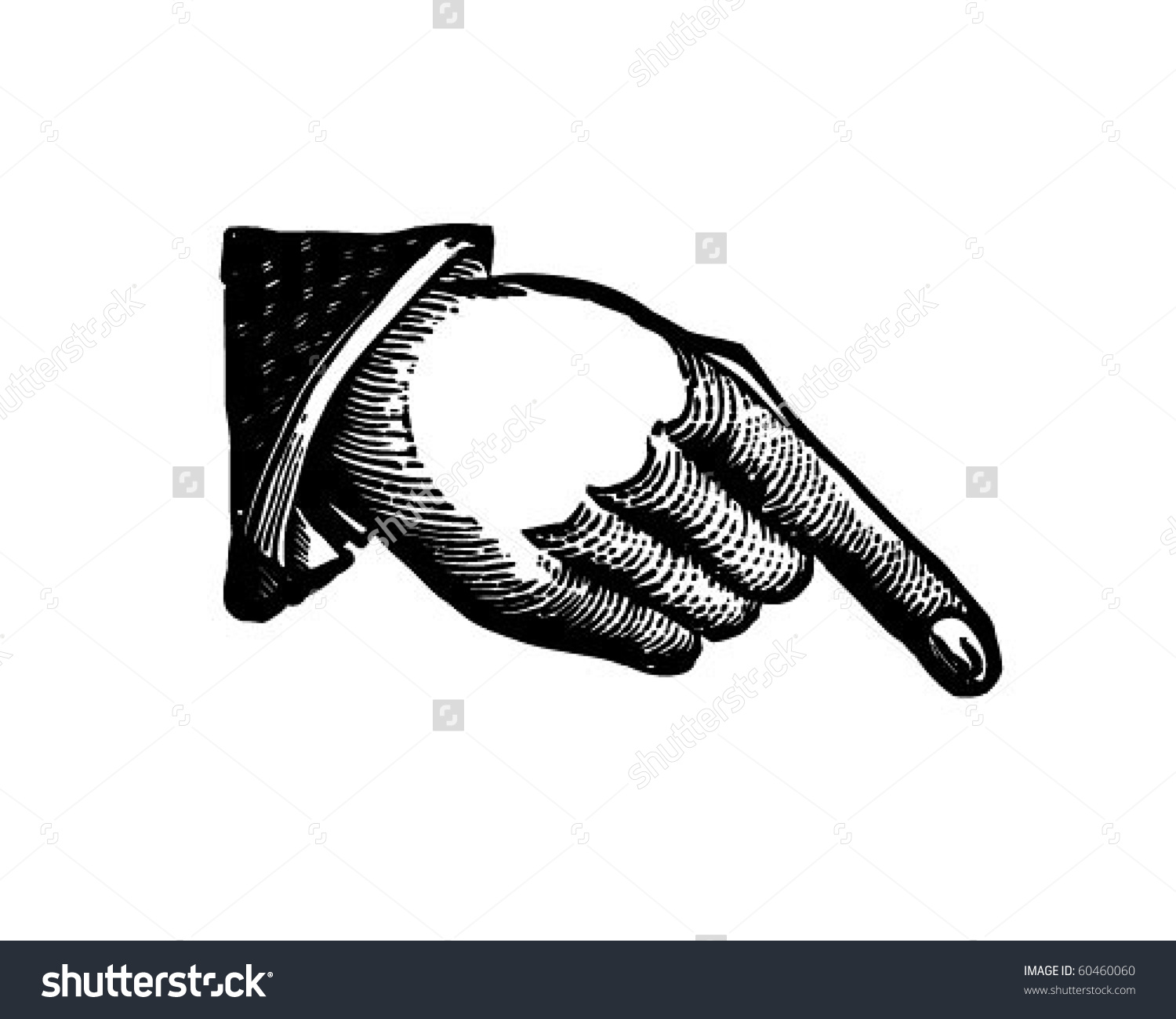 1500x1300 Hand Pointing Down Clipart