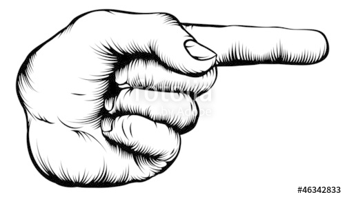 500x286 Hand Pointing Finger Illustration Stock Image And Royalty Free