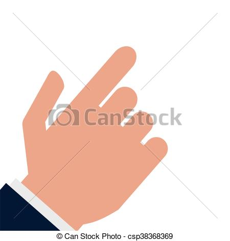 450x470 Simple Flat Design Hand Pointing With Index Finger Icon Vector