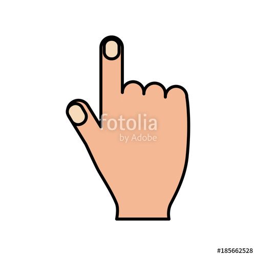 500x500 Hand Pointing Finger Cursor Internet Concept Vector Illustration