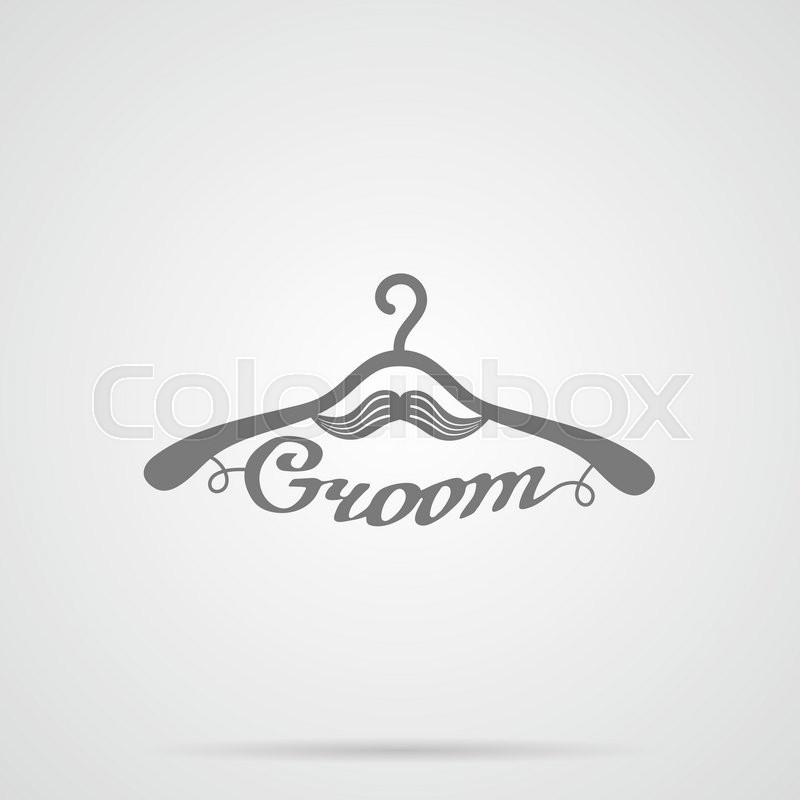 800x800 Vector Gray Wedding Hangers Groom Icon Over Light Gray Background