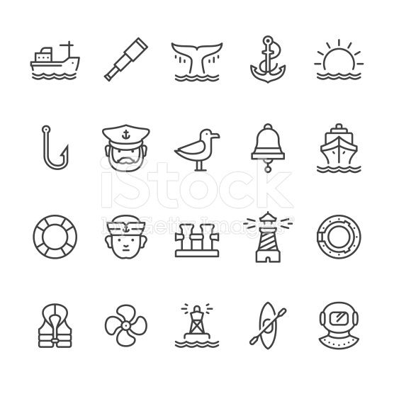 556x556 Nautical Amp Harbor Theme Related Vector Icons. Icons, Free Vector