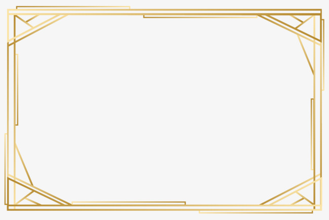 650x434 Vector Gold Frame, Png Image, Hd, Vector Material Png And Vector