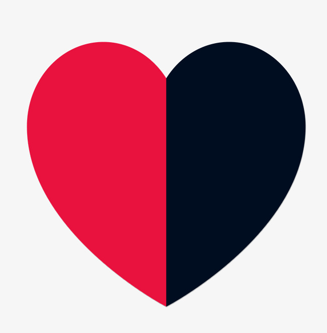 650x663 Black And Red Double Heart, Black Vector, Heart Vector, Black And
