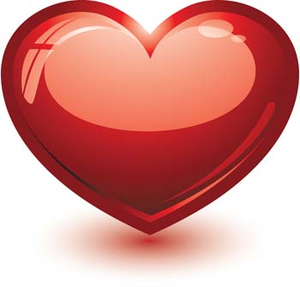 300x287 D Heart Vector Heart Vector Ai Illustrator Photoshop Heart Design