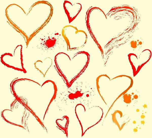 600x544 Hand Draw Heart Shape Free Vector In Adobe Illustrator Ai ( .ai