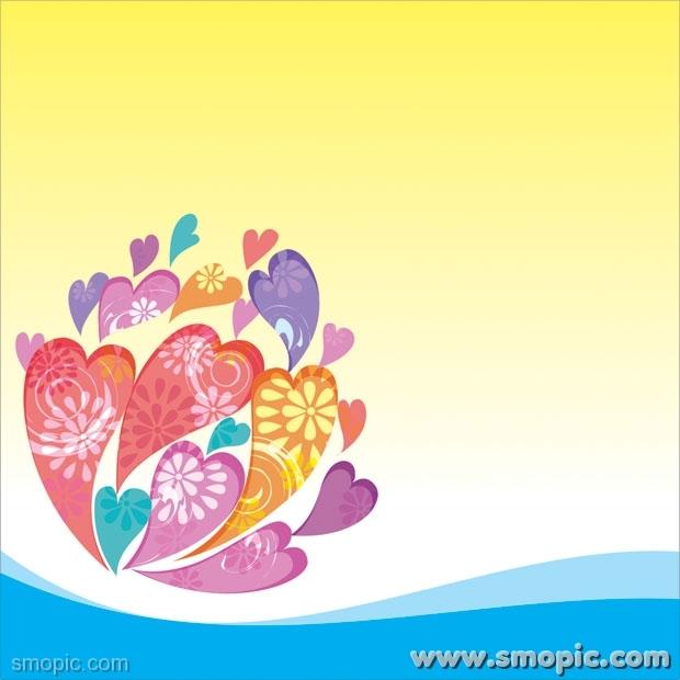 620x620 Heart Shaped Pattern Vector Illustrator Design Material Cdr