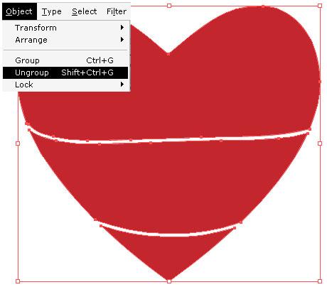 460x404 Illustrator Tutorial Warp Text Inside A Heart Shape