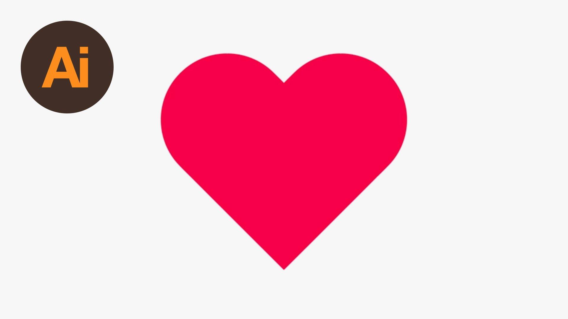 1920x1080 Learn How To Draw A Heart Shape In Adobe Illustrator Dansky