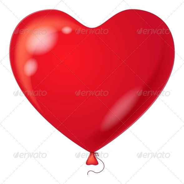 590x590 Red Balloon, Heart Shaped Red Balloon, Heart Shapes