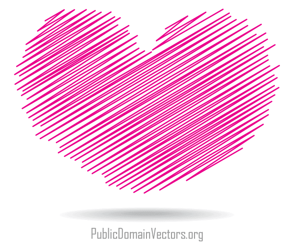 600x500 Scribble Heart Shape Vector Illustrator 123freevectors