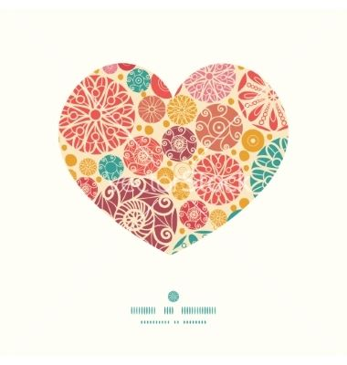 380x400 Abstract Decorative Circles Heart Silhouette Vector By Oksancia On