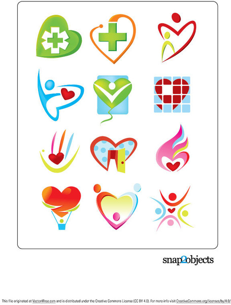 455x600 Free Vector Heart Shaped Logo Template Free Vector In Adobe