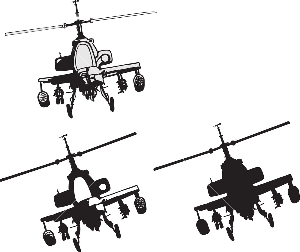 1000x842 Helicopter Vector Element Royalty Free Stock Image