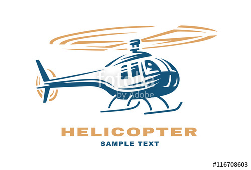 500x338 Helicopter Logo Design Illustration Stock Image And Royalty Free