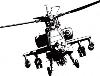 350x265 Apache Helicopter Vector Adobe Illustrator Free Vector In