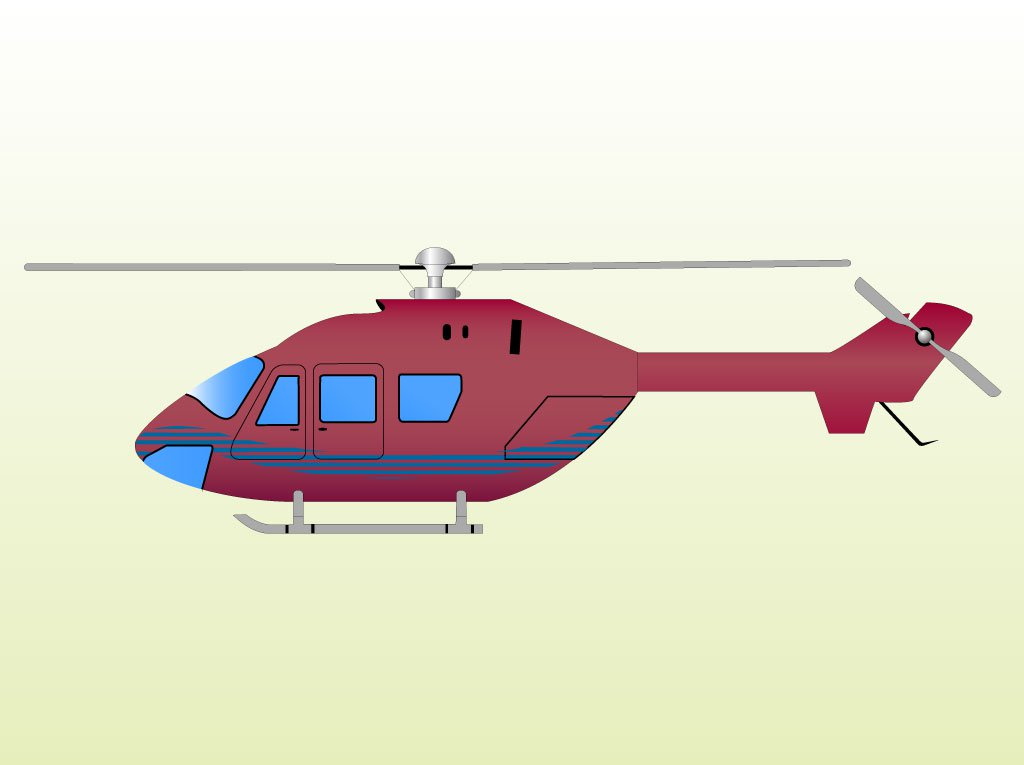 1024x765 Red Helicopter Clip Art Vector Art Amp Graphics
