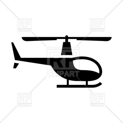 400x400 Silhouette Of Helicopter Vector Image Vector Artwork Of Signs