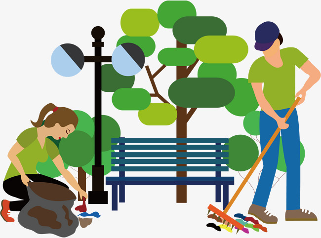 650x482 Help To Clean, Help Others Elements, Vector Character Material
