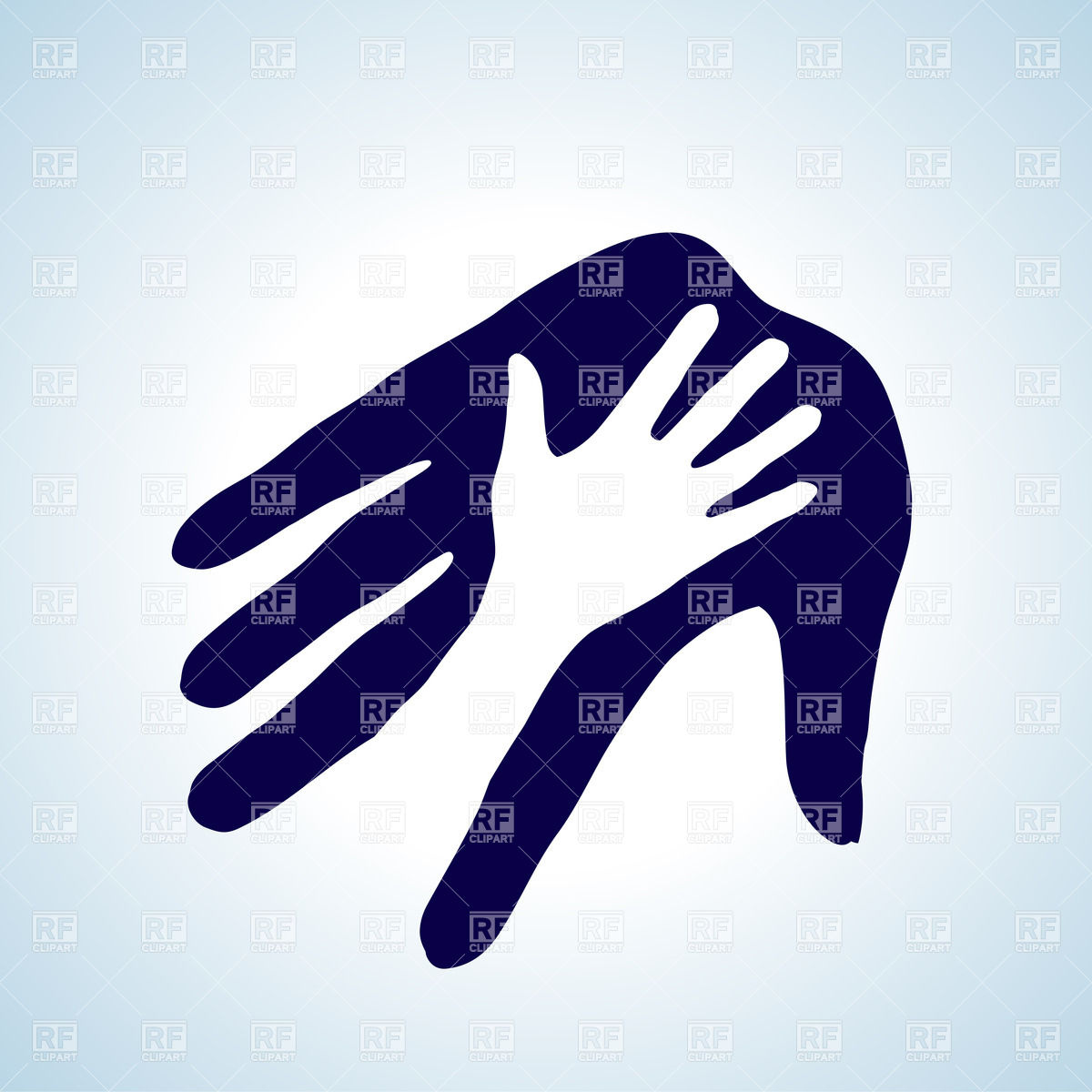 1200x1200 Icon Of Helping Hand Vector Image Vector Artwork Of People