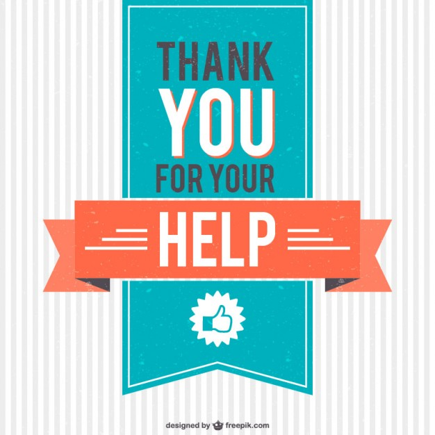 626x626 Vintage Thank You For Your Help Vector Vector Free Download