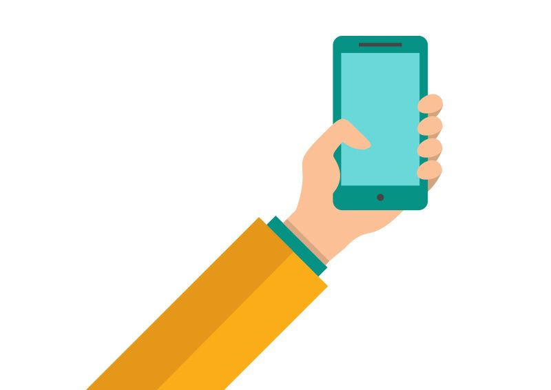 800x566 Hand Holding A Smartphone Flat Vector Httpsuperawesomevectors