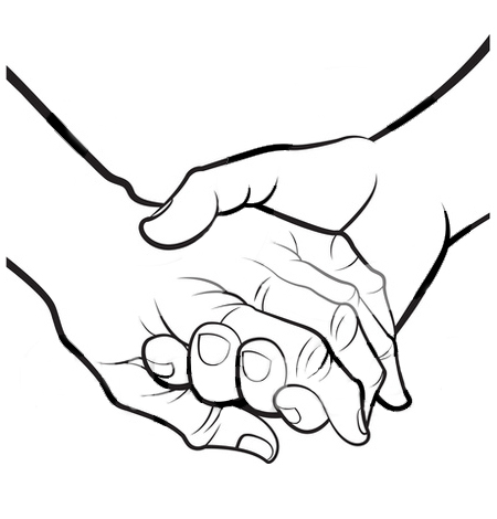 450x470 Holding Hands Clipart Clipartlook