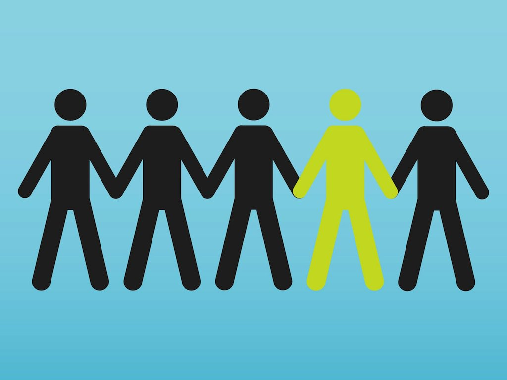 1024x768 People Holding Hands Vector Art Amp Graphics
