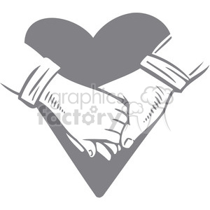 300x300 Royalty Free Couple Holding Hands 386695 Vector Clip Art Image