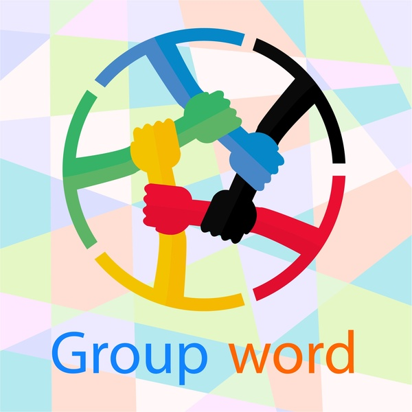 600x600 Teamwork Design With Circle Holding Hands Style Free Vector In