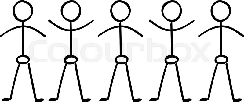 799x335 Vector Stick Figure People Holding Hands In A Line Stock Vector