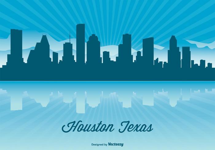 700x490 Houston Skyline Illustration
