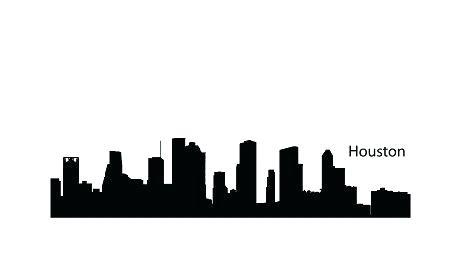 450x270 Houston Skyline Silhouette Vector Recycled Vinyl Art Project H