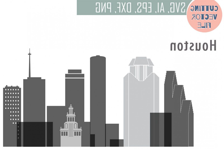 1389x926 City Of Houston Vector Art Geekchicpro