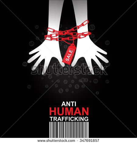 450x470 Stop Human Trafficking Vector Concept Human Sale.
