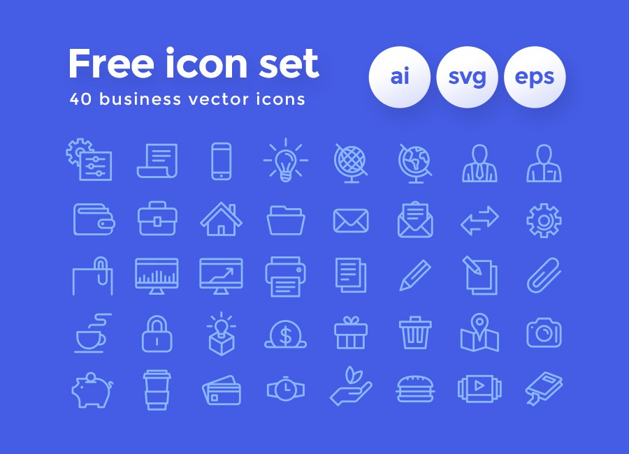 900x650 40 Business Vector Icons Pack Free Design Resources