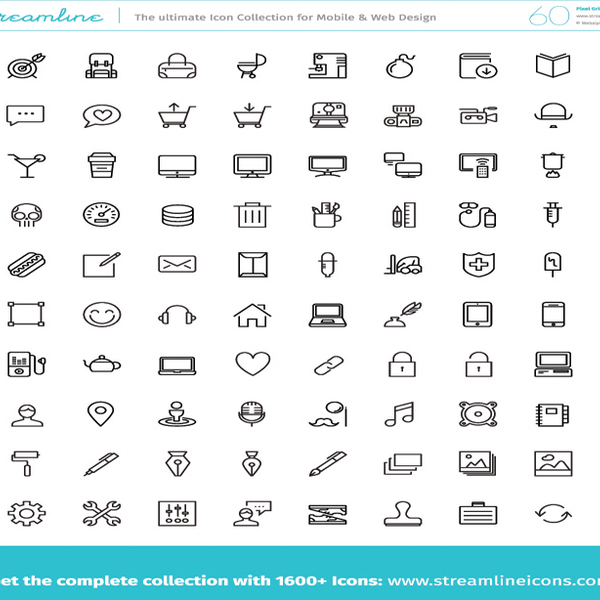 600x600 Free Vector Icons Pack