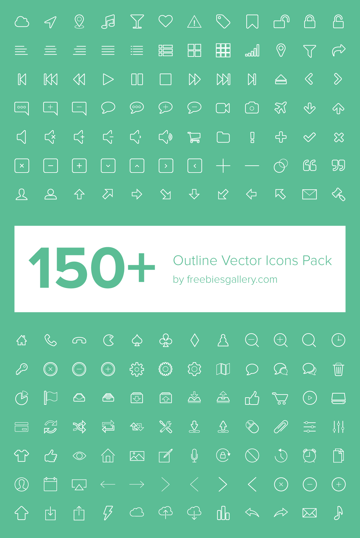 1200x1793 Outline Vector Icons Pack