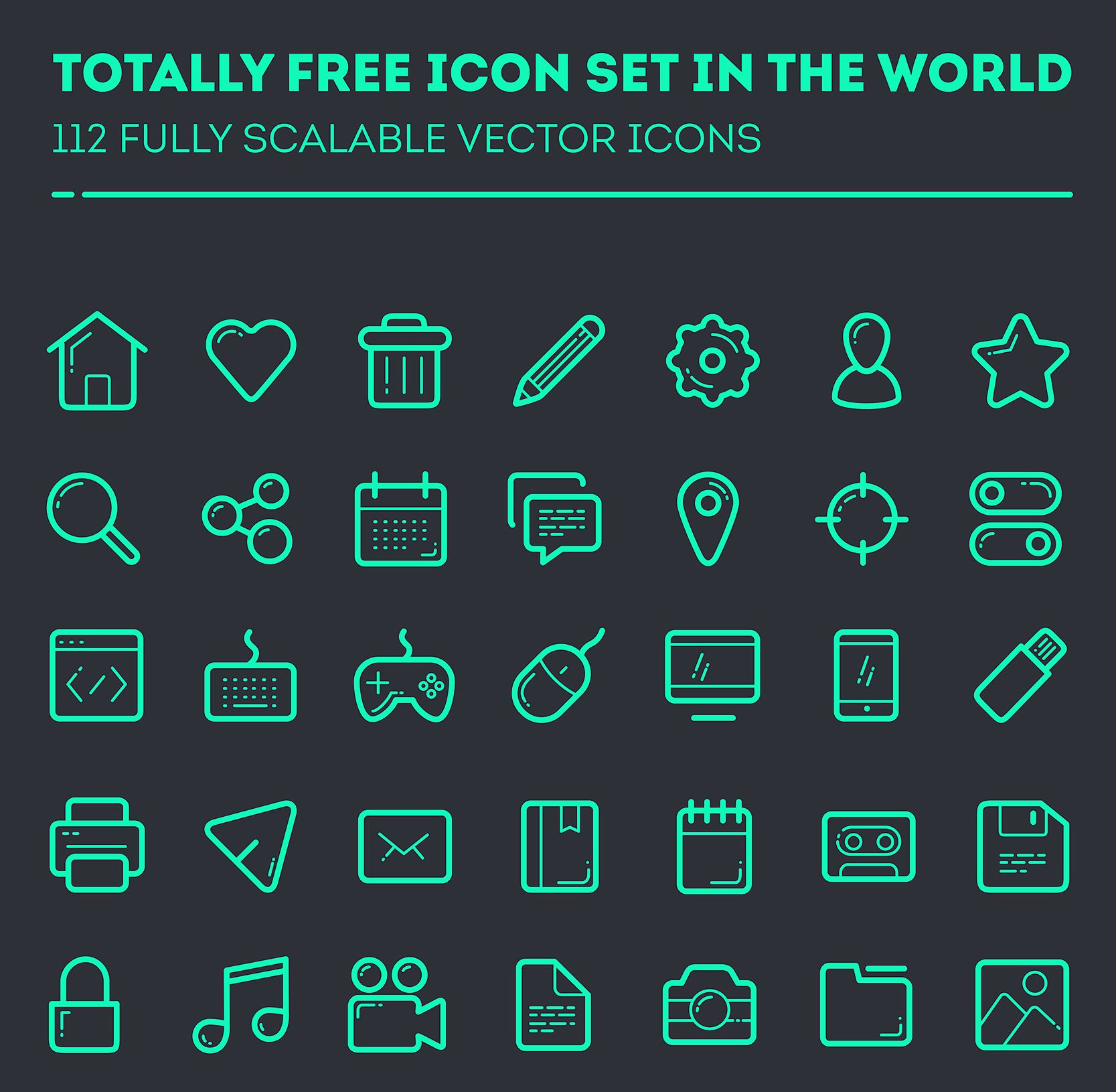 1667x1631 Free Premium Line Style Vector Icon Sets