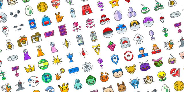 642x321 100 Pokemon Go Vector Icons